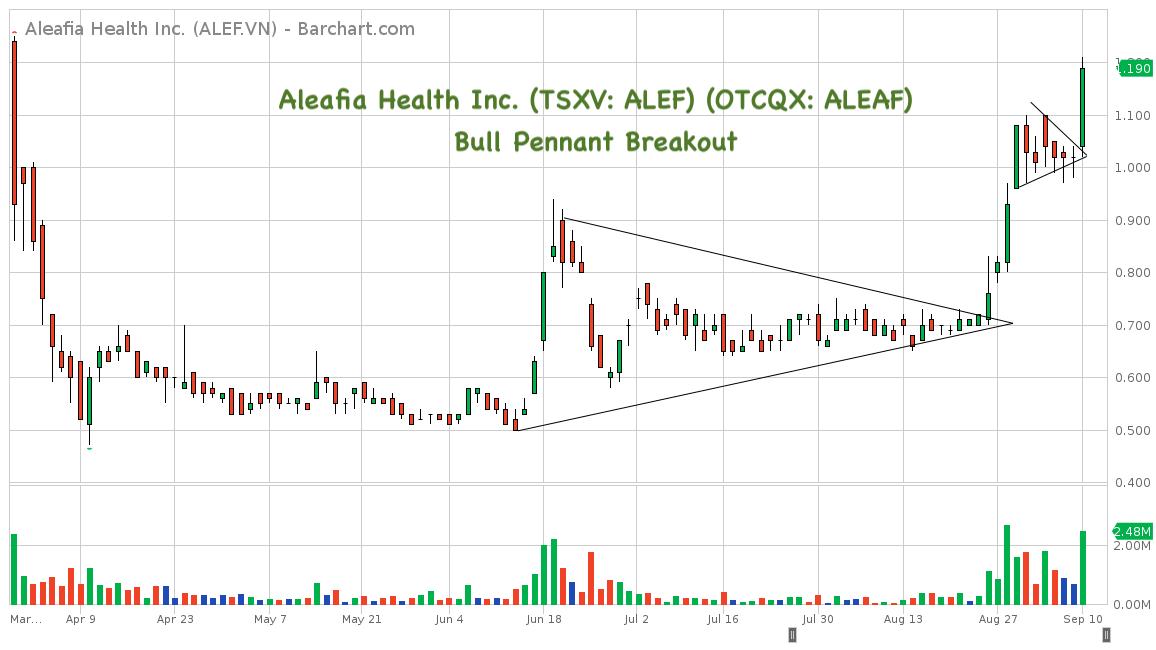Aleafia Health Inc  (TSXV: ALEF) (OTCQX: ALEAF) - Bull